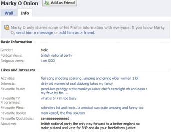 Mark Onion's FB profile